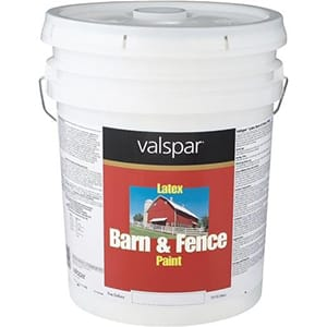 Valspar 3125-10 Barn and Fence Latex Paint – Best Latex Protective Fence Paint Review